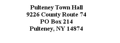 Town of Pulteney Address